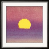 Sunset, c.1972 (pink, purple, yellow) Posters by Andy Warhol