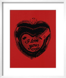 Heart, c.1984 (I Love You) Print by Andy Warhol