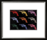 Gun, c.1982 (many/rainbow) Posters by Andy Warhol