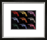 Gun, c.1982 (many/rainbow) Poster by Andy Warhol