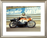 Aermacchi GP Motorcycle Framed Giclee Print by Giovanni Perrone