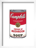 Campbell's Soup I: Cream of Mushroom, c.1968 Posters by Andy Warhol