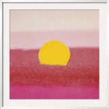 Sunset, c.1972 (hot pink, pink, yellow) Art by Andy Warhol