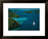 Sailing Palau Poster by Jean-Luc Allegre