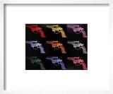 Gun, c.1982 (many/rainbow) Prints by Andy Warhol