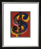 Dollar Sign, c.1981 (black and yellow on red) Print by Andy Warhol