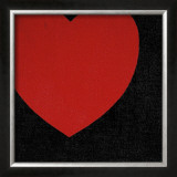Heart, c.1979 (Red on Black) Print by Andy Warhol