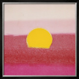 Sunset, c.1972 (hot pink, pink, yellow) Posters by Andy Warhol