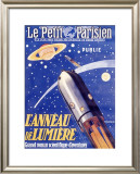 Rocketship to Saturn Framed Giclee Print