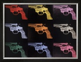 Gun, c.1982 (many/rainbow) Prints by Andy Warhol