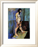 Male Nude Model Estampe encadrée par Henri Matisse
