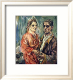 Double Portrait, c.1912-1913 Prints by Oskar Kokoschka
