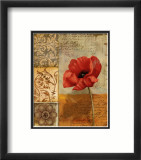 Poppy Flourish II Art par T.c. Wood