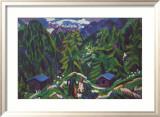 Mountain Landscape Poster von Ernst Ludwig Kirchner