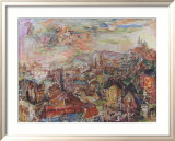 View of Prague Affiche par Oskar Kokoschka