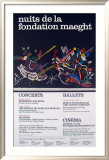 Nuits de la Fondation 1966 Posters by Wassily Kandinsky