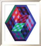 Album Gordes - Tridim Limited Edition Framed Print by Victor Vasarely