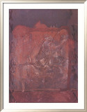 Relief in Ziegelfarbe Print by Antoni Tapies