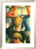 Gruppe Am Gelandernr, 1931 Art by Oskar Schlemmer