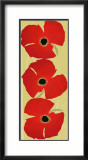 Dancing Poppies Posters par Susy Pilgrim Waters