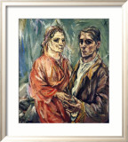 Double Portrait, c.1912-1913 Poster by Oskar Kokoschka