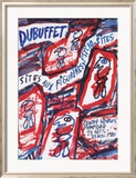 Sites aux Figurines Psycho-Sites Poster by Jean Dubuffet