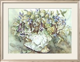 Flower Aquarel I Print by Elizabeth Veltman-Adriaansz