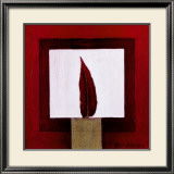 Red Feather Poster by Pascale Nesson