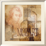 Tribute to Mozart Poster by Marie Louise Oudkerk