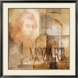 Tribute to Mozart Print by Marie Louise Oudkerk