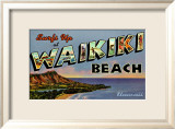 Waikiki Beach Framed Giclee Print