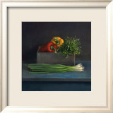 Still Life with Paprika Kunstdruck von Van Riswick 