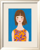 Girl Whose Hair Is Blown by the Wind Posters by Hiromi Taguchi