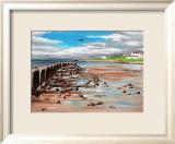 Low Flying over Lossiemouth West Beach Art by Elise Ferguson
