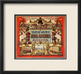 Vintage Russian Tobacco Advertisement Framed Giclee Print
