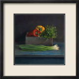 Still Life with Paprika Kunstdrucke von Van Riswick 