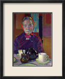 Portrait of Mrs. Mounter Print by Harold Gilman