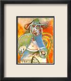 Vieil Homme Assis Mougins 1970 Art par Pablo Picasso