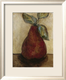 Red Pear on Beige Posters af Nicole Etienne