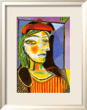 Girl with Red Beret Art par Pablo Picasso