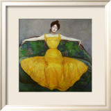 Lady in Yellow, c.1899 Posters by Maximilian Kurzweil