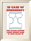 In Case of Emergency I Posters av Russ Lachanse