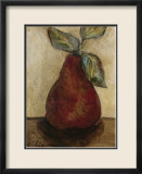 Red Pear on Beige Plakater af Nicole Etienne