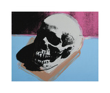 Skull, c.1976 (White on Blue and Pink) Giclée-tryk af Andy Warhol