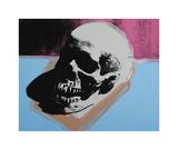 Andy Warhol - Skull, c.1976 (White on Blue and Pink) Digitálně vytištěná reprodukce