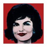 Jackie, c.1964 (On Red) Giclée-tryk af Andy Warhol