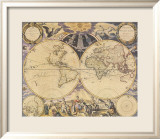 New World Map, c.1676 Posters par Pieter Goos