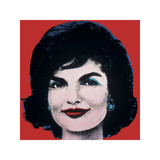 Jackie, c.1964 (On Red) Gicléedruk van Andy Warhol
