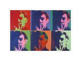 A Set of Six Self-Portraits, c.1967 Giclée-tryk af Andy Warhol