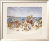 Jeux de plage pour la famille ours Posters par Susan Anderson